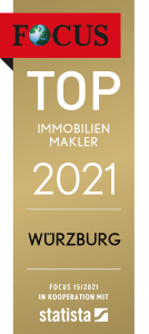 Siegel FOCUS Top Immobilienmakler 2021 Würzburg